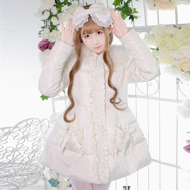 Здесь продается  Princess sweet lolita parkas Brocade garden padded winter Lolita thick warm fur collar witch hooded down cotton parkas ZJY099  Одежда и аксессуары