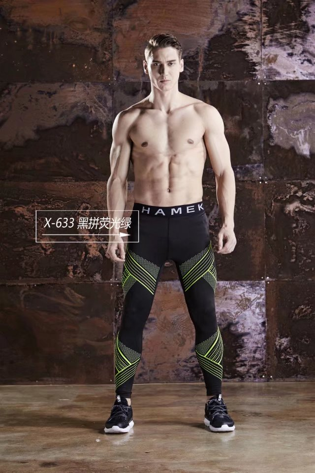 Mens Quick Dry Compression Tight Pants Tights Skinny Leggings Bottom Fitness Bodybuilding Pants