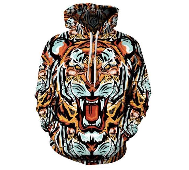 Европа и соединенные Штаты мужской новый голова тигра свободно пара с капюшоном sweatershirt толстовки бренд для мужчин и женщин
