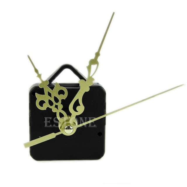 Quartz Clock Movement Mechanism Gold Hands DIY Replace Repair Parts Kit New