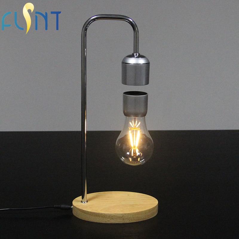 FLSNT Magnetic Levitating Floating Wireless Bulb Desk Lamp ...