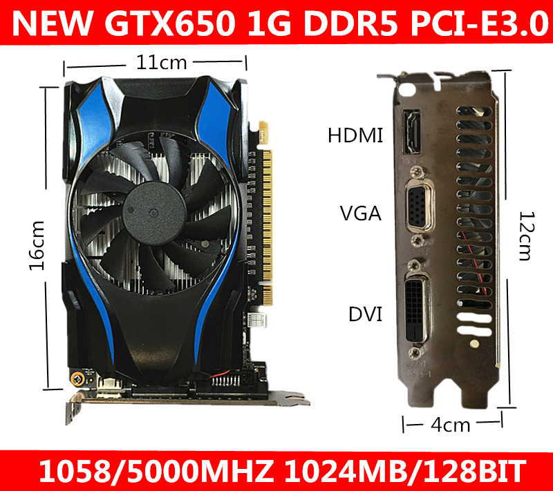 new OEM GTX650 1G DDR5 Support for triple frequency stand alone desktop computer game Video card