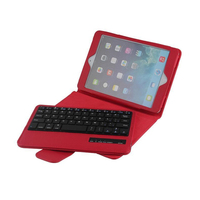 For IPad Mini 2 3 4 Keyboard Case PU Leather Cover Removable Wireless Bluetooth Keyboard Stand