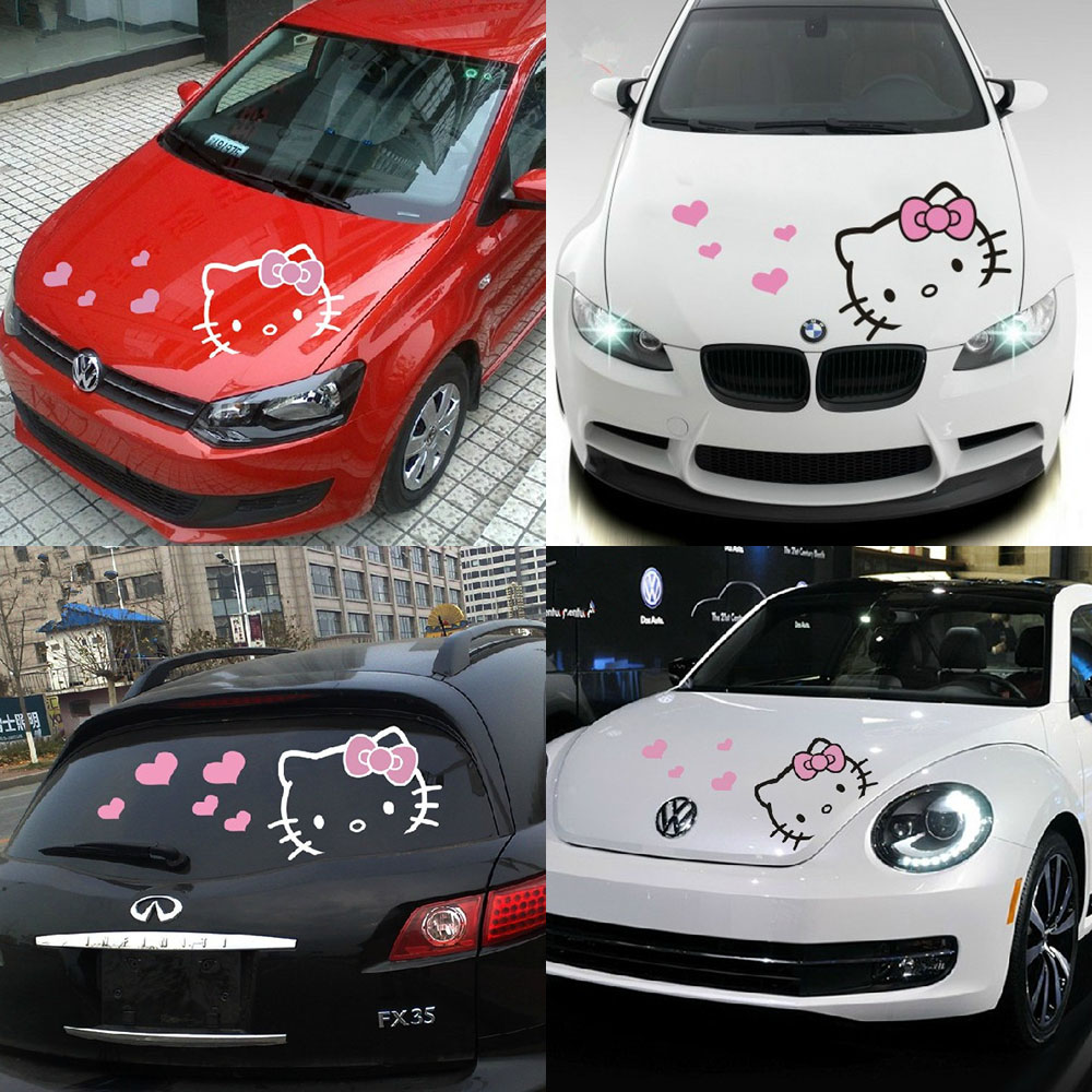 ZXS lovely cartoon car-styling car hood stckers and decals car head decor for ford focus/BMW/BENZ/KIA/CHEVROLET/SKODA
