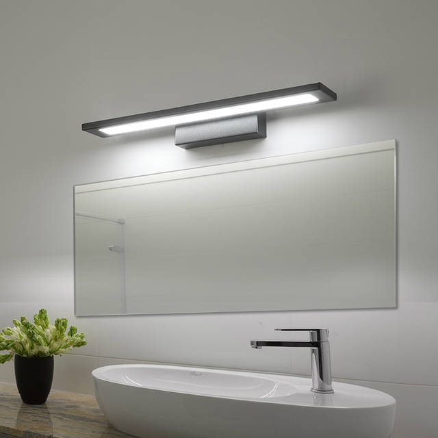 the latest b4da4 1f167 US $63.0 30% OFF|LED bathroom Mirror light Modern Wall lamps for makeup  barbershop dressing table lighting fixtures Vanity Lights-in LED Indoor  Wall ...