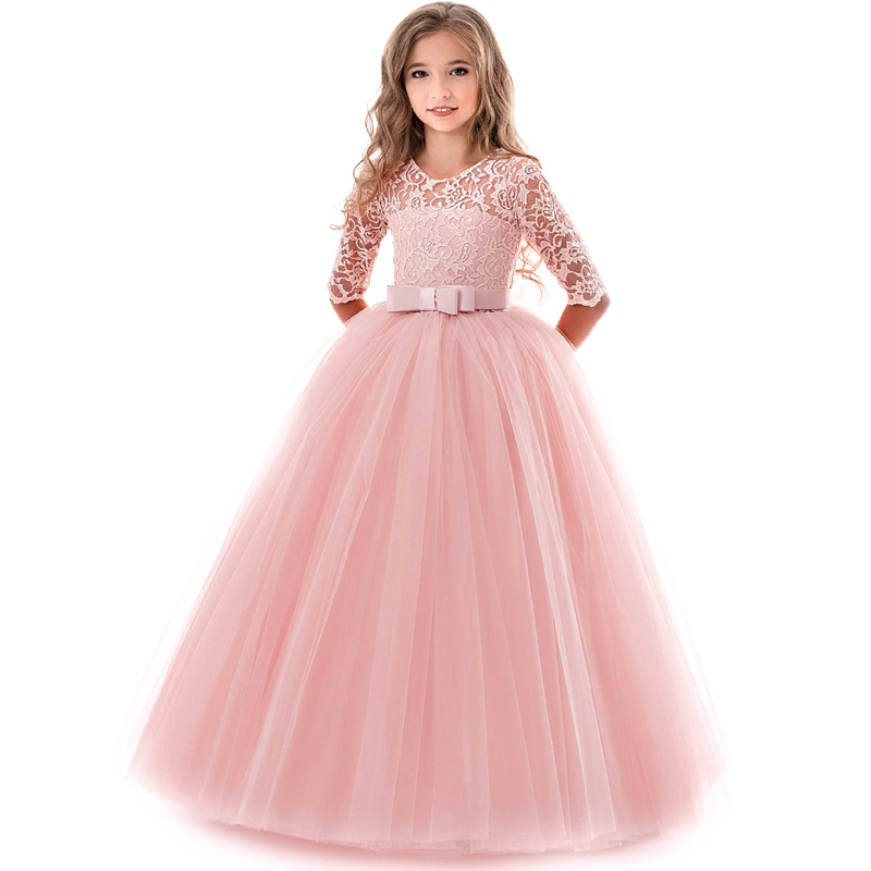 Girl's Birthday Party Dress Flower Girl's Banquet Party First Eucharist Party Dress Little Bridesmaid Wedding Party Dress 1