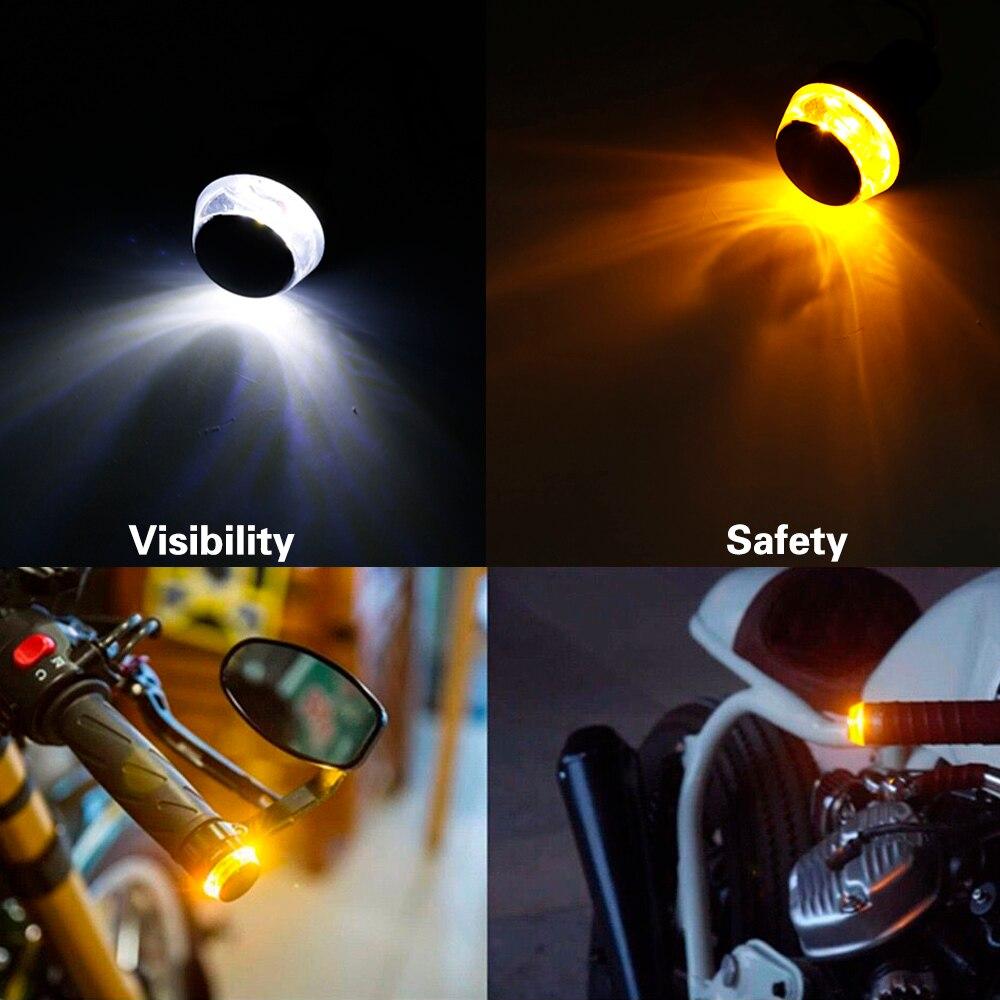 CNC Turn Signals Light For Suzuki Handle Bars End Cover Grip Plug Hand Block Cap