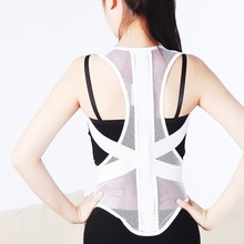man/ Women Adjustable breathable Therapy Back Support Braces Belt Band Posture Shoulder Corrector for Fashion Health