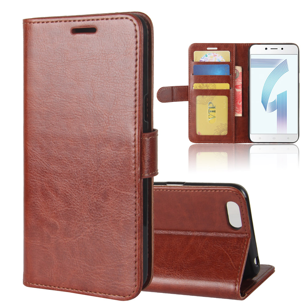 A71 Case for OPPO A71 Cases Wallet Card Stent Book Style Flip Leather Covers Protect Cover black 71A A 71 for OPPO71