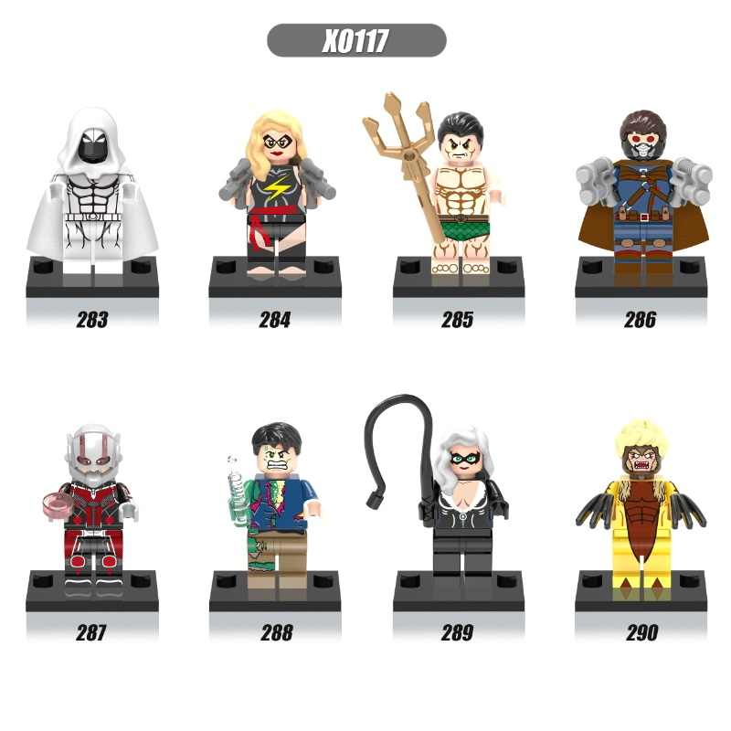 Única Venda Super Heroes Capitão América Cavaleiro Da Lua Sabretooth Bruce Banner Antman Blocos de Construção de Brinquedos de Presente Crianças X0117