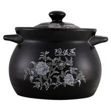 Белая гардения черной эмалью Керамика суп Pots Stewpot тушения кастрюля керамическая сковорода посуды Cocotte Ceramique