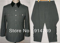 WWII GERMAN ESTATE M36 UFFICIALE COTTON FIELD TUNICA & PANTALONI UNIFORME IN SIZES-32155