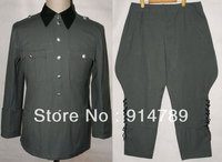 WWII GERMAN SUMMER M36 OFFICER COTTON FIELD TUNIC & BREECHES UNIFORM IN SIZES 32155