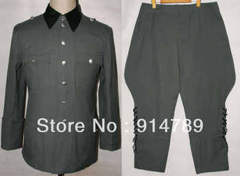 WWII GERMAN SUMMER M36 OFFICER COTTON FIELD TUNIC & BREECHES UNIFORM IN SIZES-32155 - DISCOUNT ITEM  9% OFF All Category
