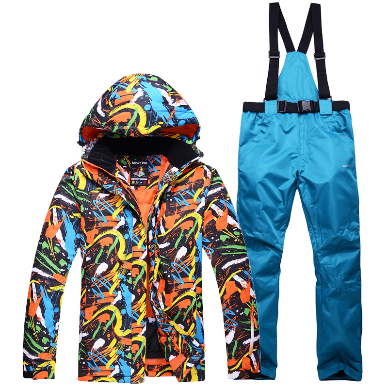 цена NEW Snowboarding Sets men Skiing suits Jackets pants winter Sportswear snow ski jacket Breathable Waterproof Waterproof