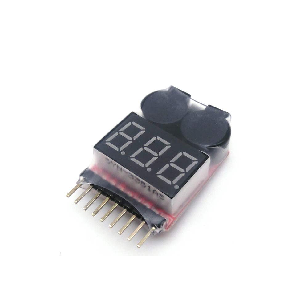 1PCS 1-8S Low Voltage Buzzer Alarm Lipo Battery Voltage Indicator Tester for RC Car RC Boat RC Drone rc model 2s 3s 4s detect lipo battery low voltage alarm buzzer