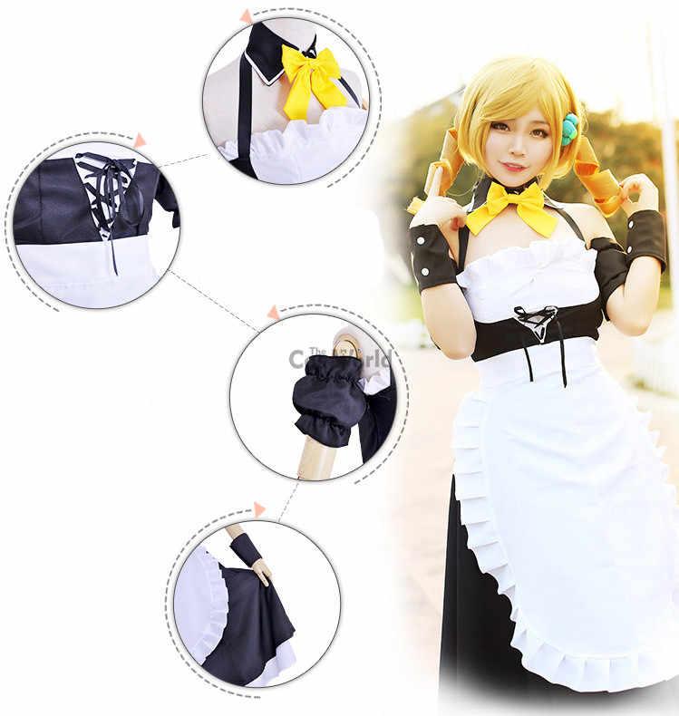 魔法少女まどか☆マギカ巴マミメイドエプロンティードレス制服meidofuku衣装アニメコスプレ衣装