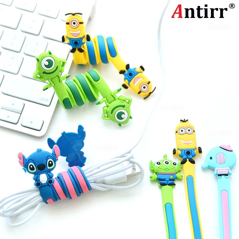 Cute Multipurpose Usb Cable Winder Phone Wire Cord Organizer Protector Earphone Management Computer PC Data Line Collation Clip