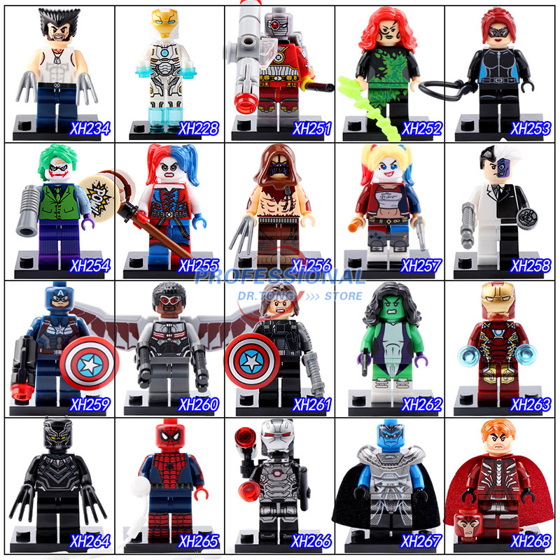 2017 New Classics Figures Series 4 XH Super Heroes Building Block Toys Wolverine Mystique Winter Soldier War Machine new lp2k series contactor lp2k06015 lp2k06015md lp2 k06015md 220v dc