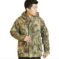 Python Softshell Jacket Men G8 Outdoors Military Tactical Jacket Men Waterproof Windproof Coat Hunt Camouflage Fleece