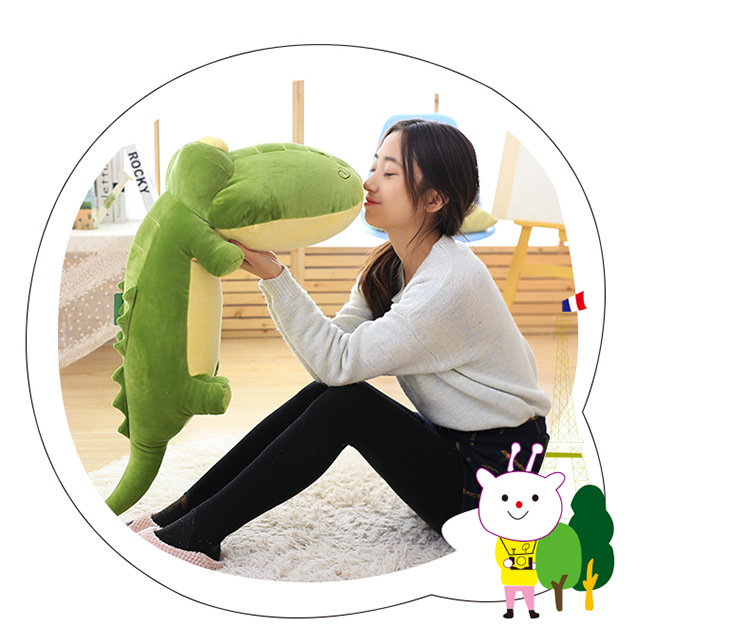 new  plush crocodile toy lovely green crocodile doll gift about 110cm the huge lovely hippo toy plush doll cartoon hippo doll gift toy about 160cm pink