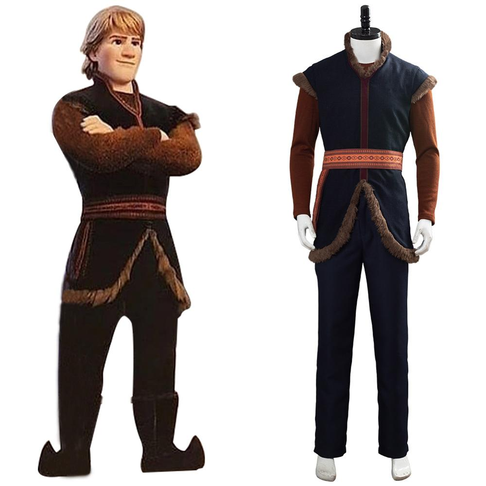 Snow Queen Prince Kristoff Cosplay Costume Unisex Adult Uniform Full Sets Custom Made for Halloween Carnival Party