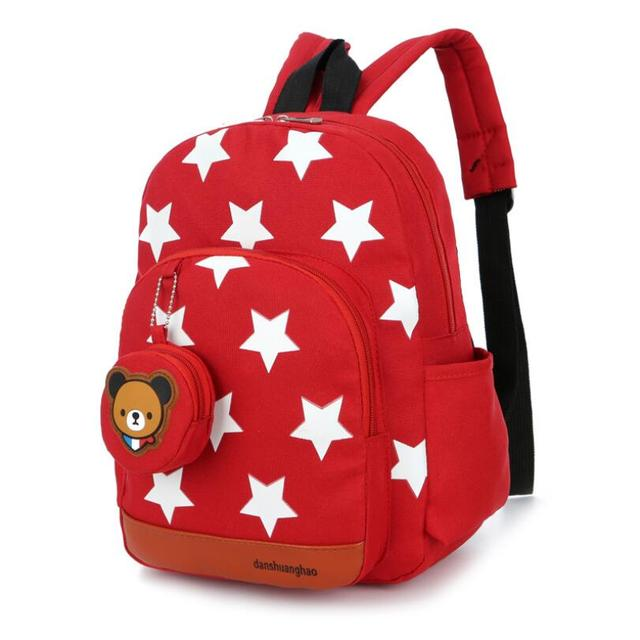 672d7bb9cf0f Boys Backpacks for Kindergarten Stars Printing Nylon Children Backpacks  Kids Kindergarten School Bags for Baby Girls