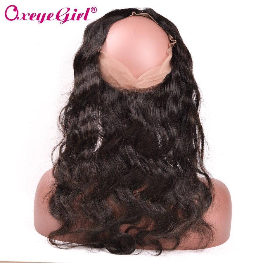 100 % 인간의 머리카락 Pre는 아기 머리카락으로 360 레이스 정면 폐쇄 브라질 헤어 바디 웨이브 번들 무료 파트 Oxeye 여자 레미