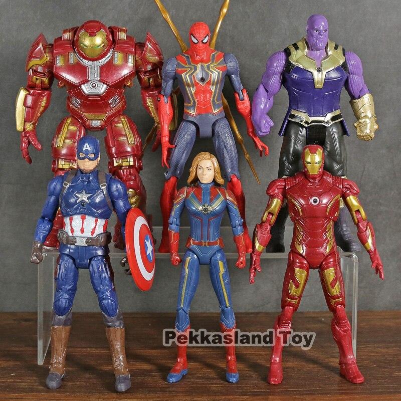 the-font-b-avengers-b-font-4-captain-marvel-iron-man-spiderman-captain-america-hulk-thanos-pvc-figure-model-toys-6pcs-set