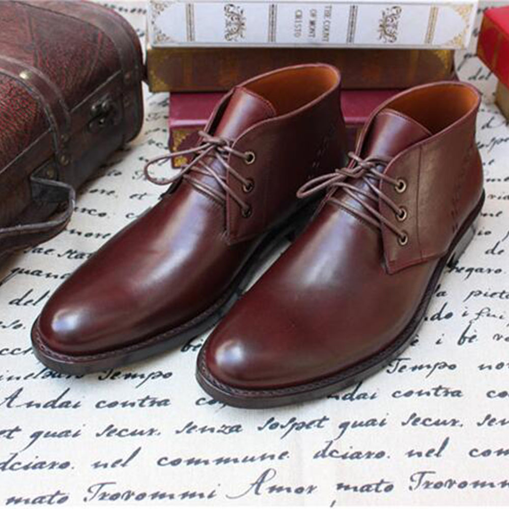 Sipriks Brand Mens Dark Brown Desert Boots Luxury Calf Leather Ankle Boots  Classic Lace Up Cow Leather Shoes Goodyear Welted on Aliexpress.com  e3482d2e236e