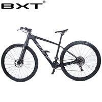Углеродного волокна горный велосипед 29er двойной дисковый тормоз 1*11 скоростей углерода велосипед 29 дюйма через мост вилка полный велосипед