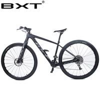 Carbon MTB Bike Mountain bike 29er Double Disc brake 1*11 speeds carbon bike 29inch Thru Axle Fork Complete Bike Free shipping