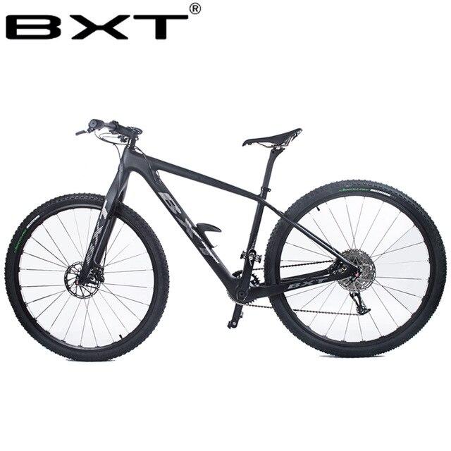 Carbone vtt vélo VTT 29er Double frein à disque 1*11 vitesses vélo en carbone 29 pouces à travers la fourche de l'essieu vélo complet livraison gratuite