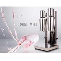Commercial double head stainless steel milk shake machine mixer shaker blender milk foam maker ZF
