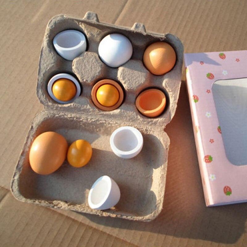 Wooden-Kitchen-Toys-For-Girls-Kids-Pretend-Play-Food-Eggs-Baby-Toys-Set-Yolk-Food-Eggs-Preschool-Wood-Toys-for-Children-Gift-2