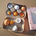Niñas juguetes de cocina de madera pretend play toys set yema de alimentos huevos toys toys educativos preescolares para niños de los niños de regalo de navidad