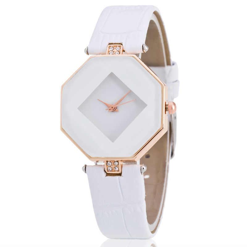 Montres quartz pour mode décontractée femmes bracelet en cuir montres analogiques femme horloge irrégulière femmes montres Relogio Feminino