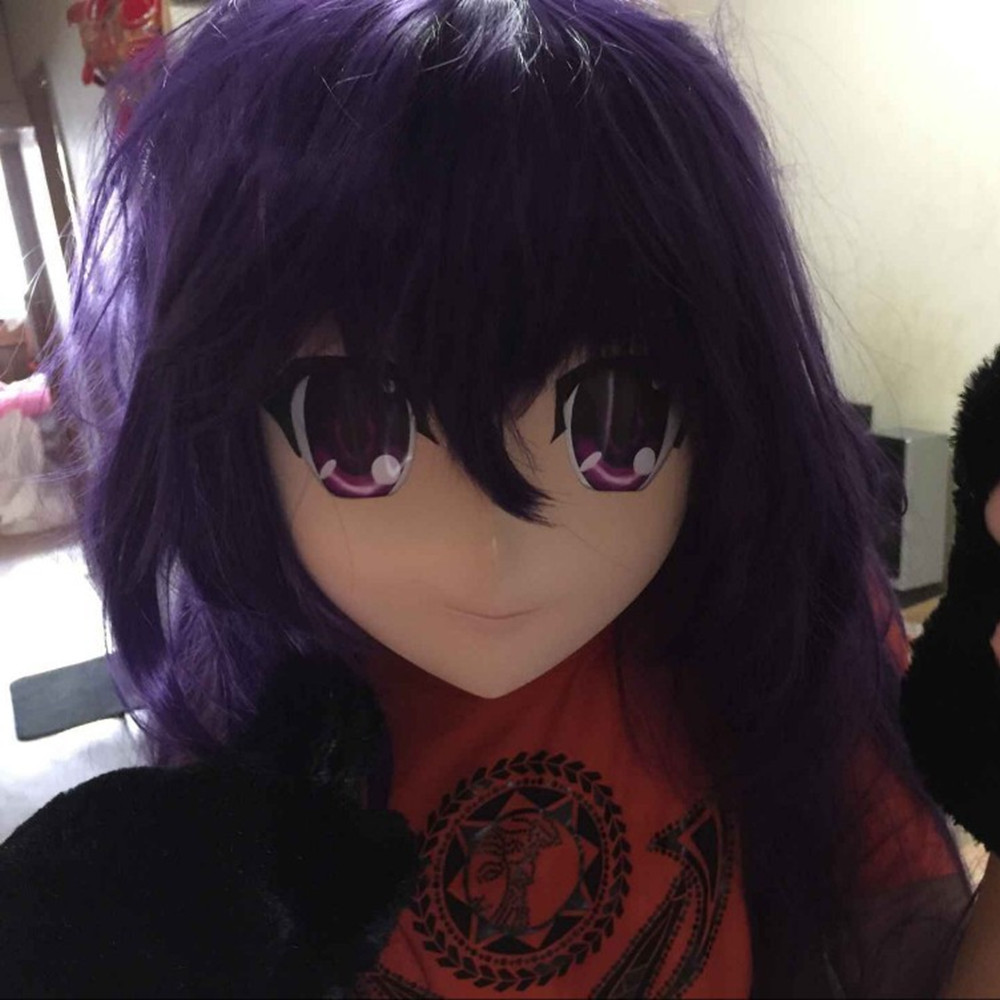 (c2-003) Top Quality Handmade Female Full Face Kigurumi Masks Cosplay Crossdresser(include The Wig)