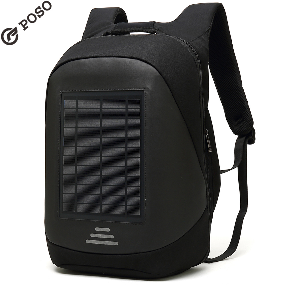 Abay 2019 nouveau sac à dos solaire transfrontalier mâle nouveau nylon extérieur voyage récréatif rechargeable sac à dos à bandoulière