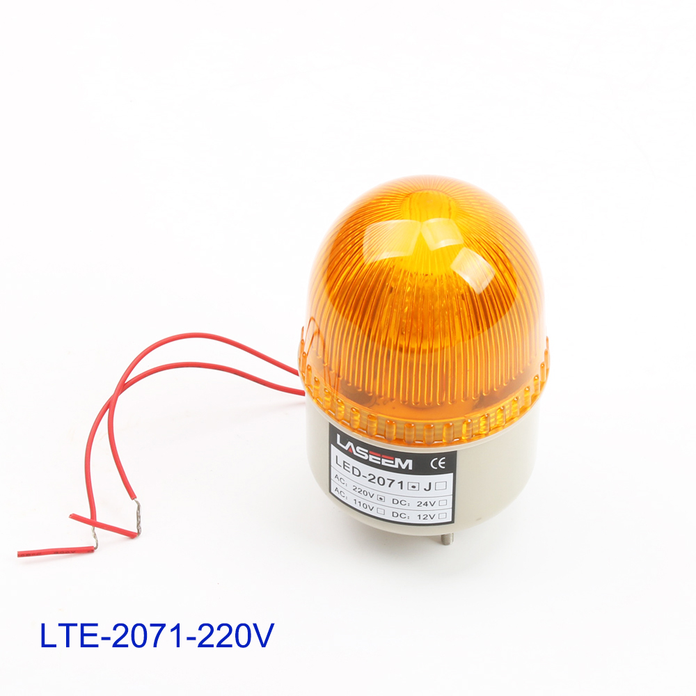 AC220V LED Strobe Flash Warning Light Firemen Emergency Without Buzzer Red Blue Green Yellow S-72 LTE-2071