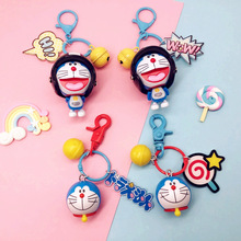 Anime Cartoon Cute Doraemon Mini PVC Figure Model Toys Doll Keychain Keyrings Bag Backpack Charm Key Holder Chain for Child