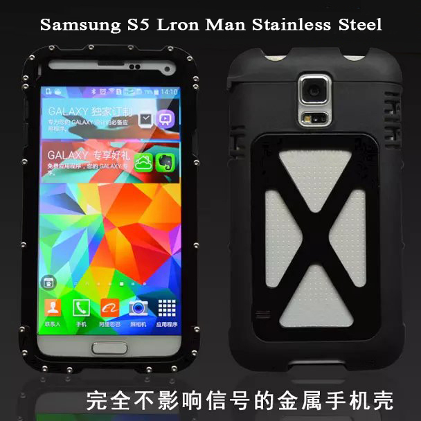 new style f515b 4a988 US $22.0 |New Arrivel Iron Man Original Armor King Element Mobile Cover  Case For Samsung s5 Metal Stainless Steel case Gorilla Glass G9008 on ...