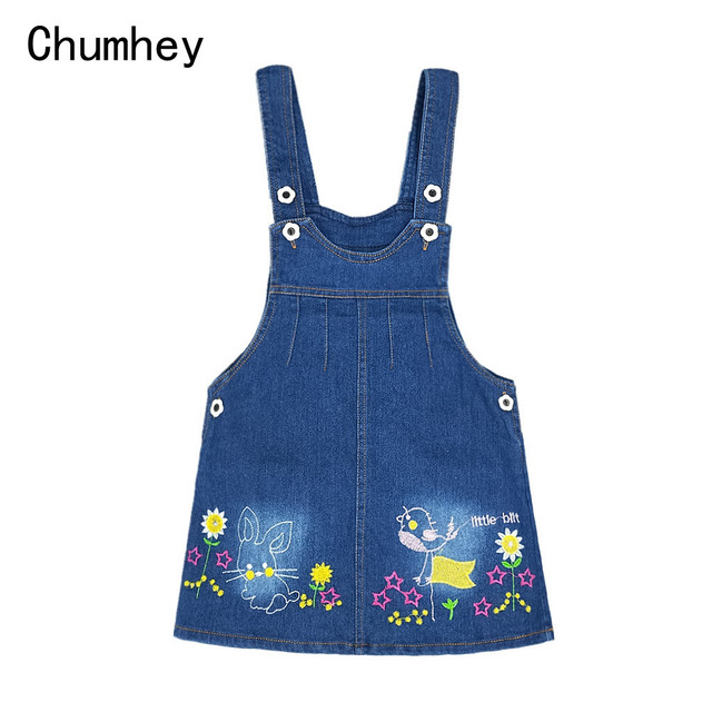 b9dc6f460 1-7T Baby Girls Suspender Skirts Summer Dress Overalls Kids Denim Jeans  Flowers Outfits Toddler Shorts Clothing Bebe Outwear