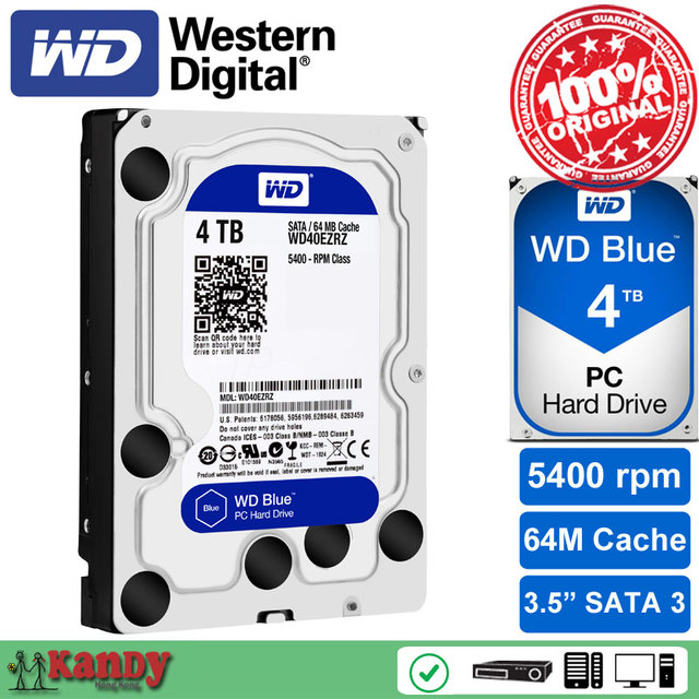 Western Digital WD Blue 4TB hdd sata 3.5 disco duro interno internal hard disk harddisk hard drive disque dur desktop hdd 3,5 PC