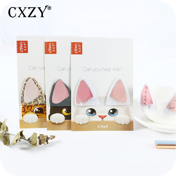 CXZY kitti Cats sticky note kawaii index tabs memo pad planner sticker page flags cute kawai items office list bookmark 3B824