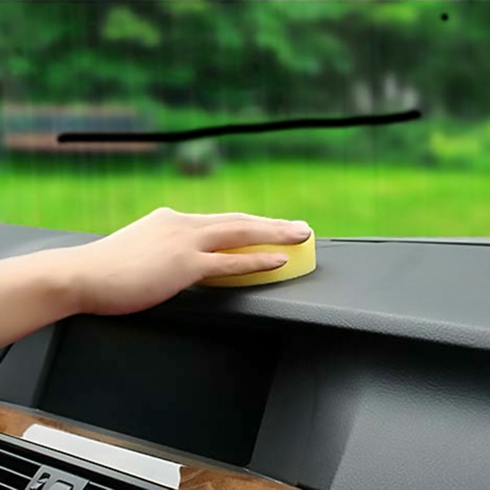12pcs Yellow Waxing Polish Wax Foam Sponge Applicator Pads Cars Vehicle Glass Clean