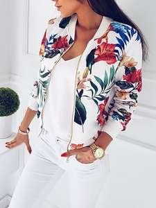 efff4dce23eebb ITFABS Ladies Zipper Bomber Jacket Coat Autumn Women