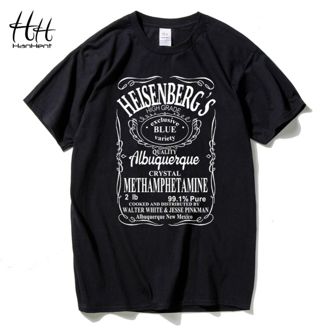 ce6ae8042 HanHent Walter White Casual Breaking Bad T Shirts Men Heisenberg Cotton  Short sleeve T-Shirts Man Tee Shirt Swag Tshirts Fashion