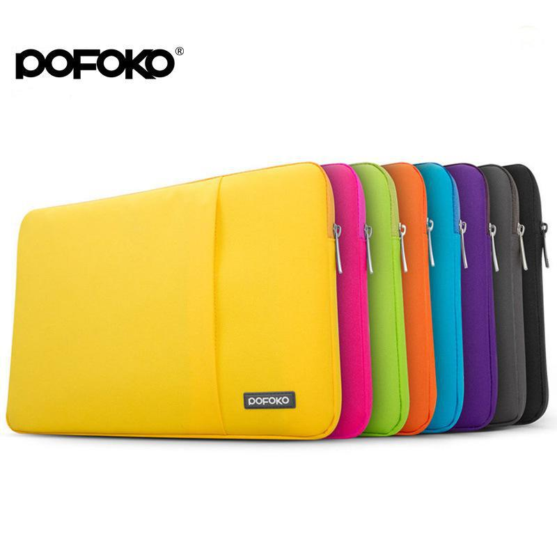 POFOKO Laptop Sleeve Bag Waterproof Notebook Handbag Case Anti-shock for MacBook Air Pro 11 12 13 14 15