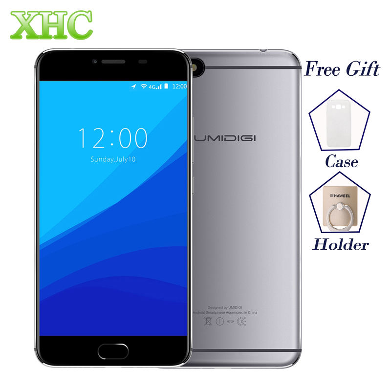UMIDIGI C HINWEIS 3 GB + 32 GB Smartphones Fingerprint ID 5,5 zoll 1920x1080 pixel Android 7.0 MTK6737T Quad Core 4G LTE Handys